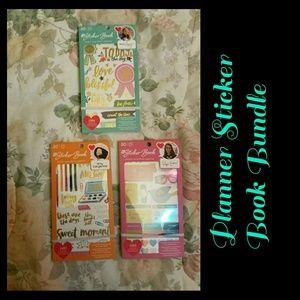 ☆NEW☆ 3 Planner Sticker Books